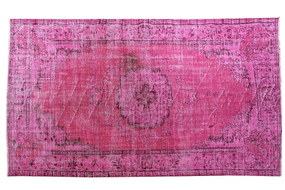 "5'4"" X 9'2''Vintage Rug,Pastel PinkColors Turkish Area Rug,Bedroom Rug,Neutral Rug,Living Room Rug,Boho Rug,Decorative Rug,Faded Rug,3214"