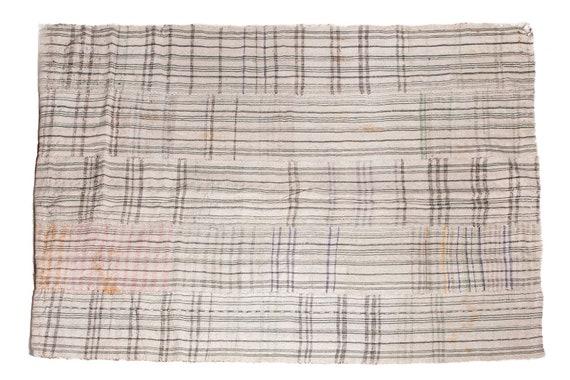4'5''x5'9''Beige-Spring Color Vintage Hand Woven Quilt,Anatolian Handmade Quilt,Home Decor,Decorative Quilt Area Quilt,Custom Kurdish Quilt
