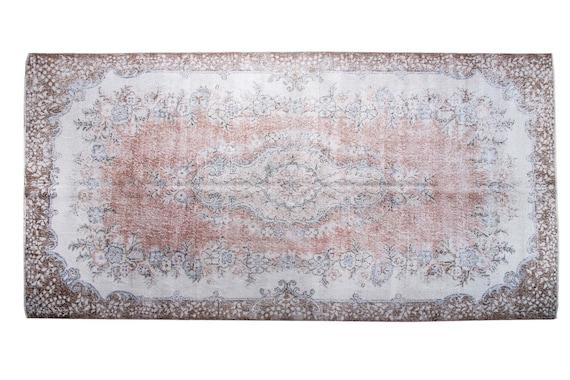 5'8'' x 10'3'' Candy Pink-Beige Color Vintage Turkish Wool Rug,Anatolian Handmade Area Rug,Home Decor,Decorative Rug,Nomadic Rug,Modern Rug