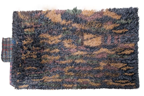Very Diffrent Unique Tulu Rug,7'8''x9'5''Colorful Color Shaggy Rug,Bohemian Rustic Rug,Handmade area rug,Faded Rug,3023