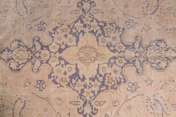 9'6''x13'4''Natural Beige-Blue Color  Turkish Wool Rug,Anatolian Ottoman Handmade Area Rug,Decorative Rug,Nomadic Rug,Modern Art Rug,2487