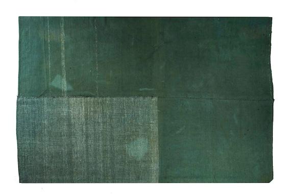 6'2''x9'2''Green Color Vintage Turkish Hemp Rug,Anatolian Handmade Area Rug,Home Decor,Decorative Rug,Custom Hemp Rug,3002