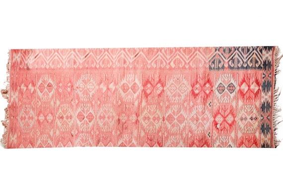 3'4''x5'9''Red Color Vintage Turkish Wool Rug,Anatolian Handmade Area Rug,Home Decor,Decorative Rug,One Piece Old Fragment Rug,Nomadic Rug