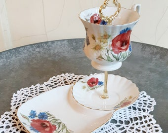 Etagere 2-storey collection cup Upcycling
