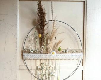 Boho wreath XL with pampas grass and dried flowers I Ringø 40 cm I Wall decoration I Window decoration