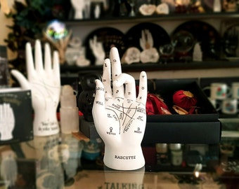 Ceramic Vintage Palmistry Hand, Vintage Style, Curiosities, Oddities, astrology palm readings, palmistry hand, Fortune Telling, witchcraft