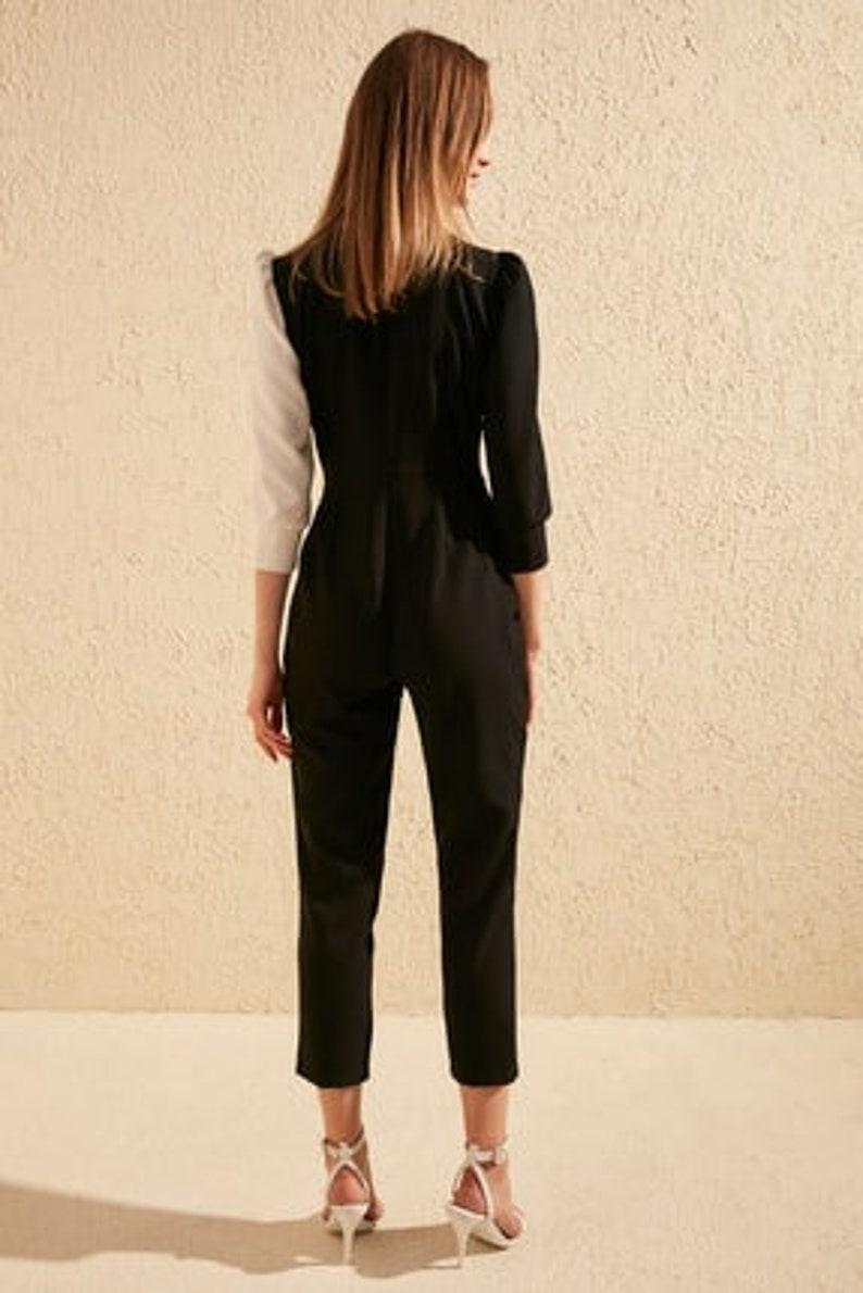 Black Color Block Jumpsuit 34