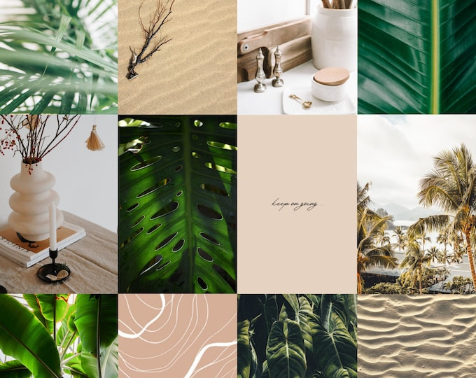 Botanical Aesthetic Wall Collage