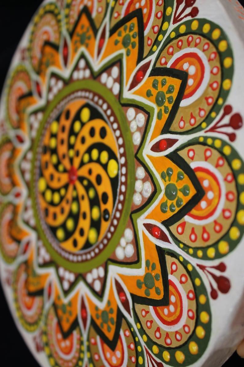 original painting mandala acrylic canvas leinwand 20 cm  etsy