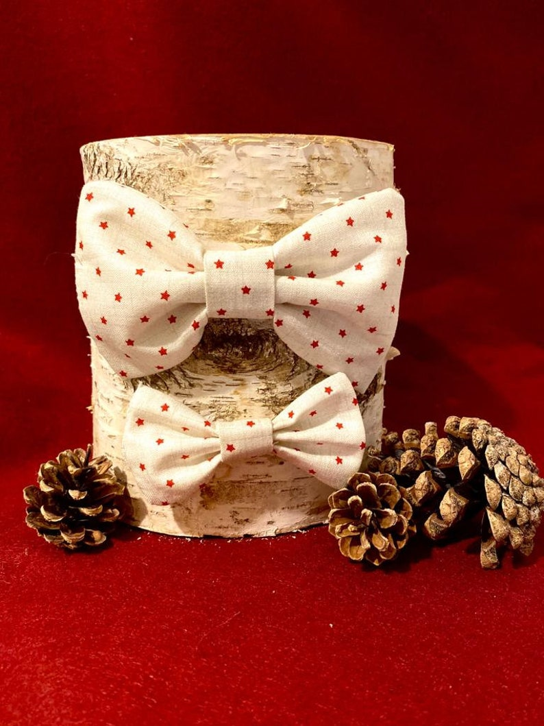Red star bow tie