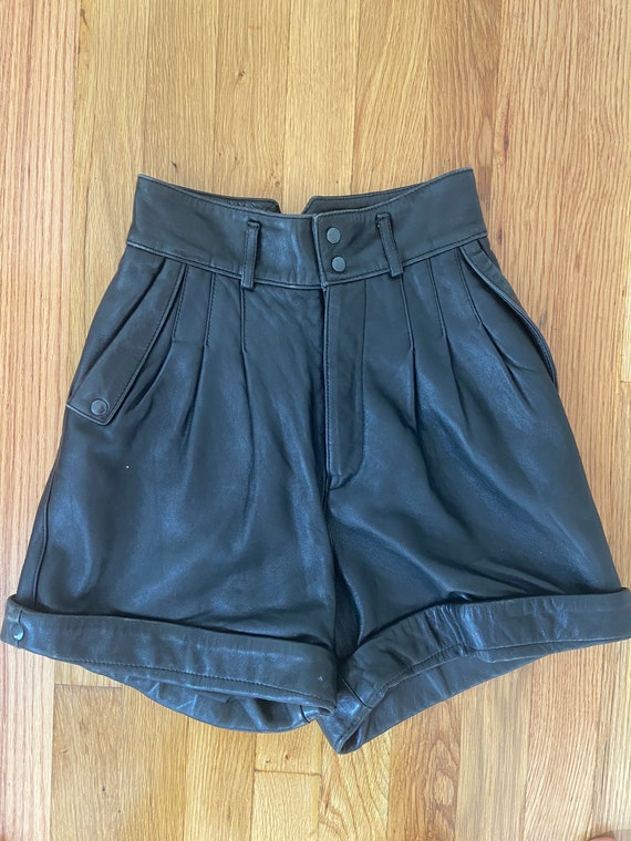 North Beach Leather Shorts