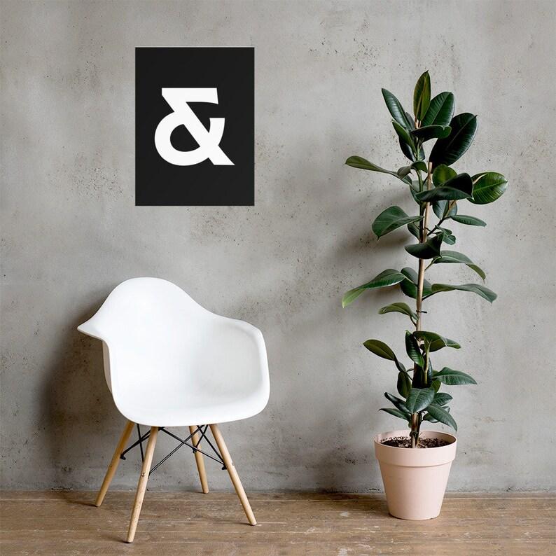 Ampersand Type Poster Minimal Typography Black and White Font Graphic Designer Artist Feminine Elegant