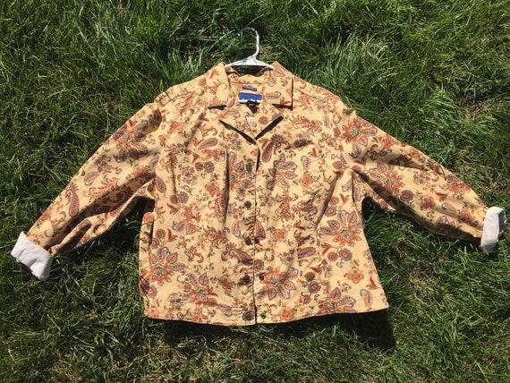 Oversized Paisley Jacket