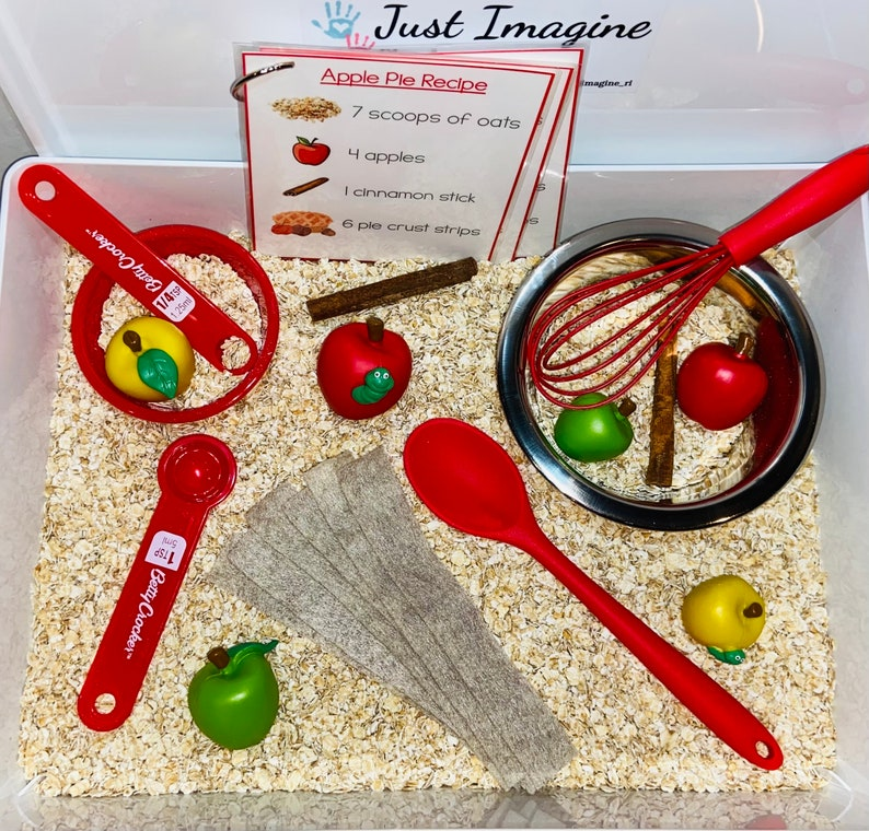 Apple Pie Sensory Bin  Sensory Kit  Sensory Play  Baking  - Premade Sensory Bins