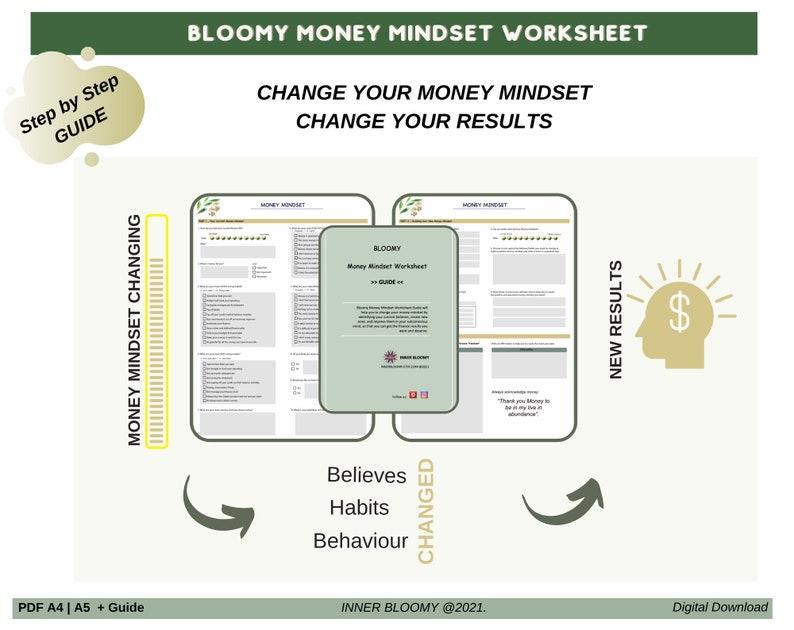Money Mindset workbook printable money mindset worksheet image 1