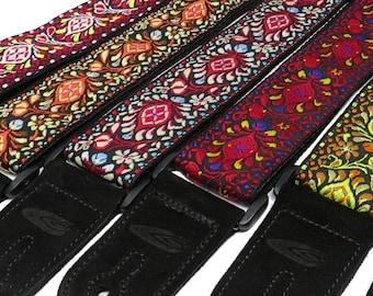 Woven Guitar Strap Jimi Hendrix Retro Style / Acoustic Guitar Strap / Electric Guitar Strap / Bass Guitar Strap / Guitar Player Gift