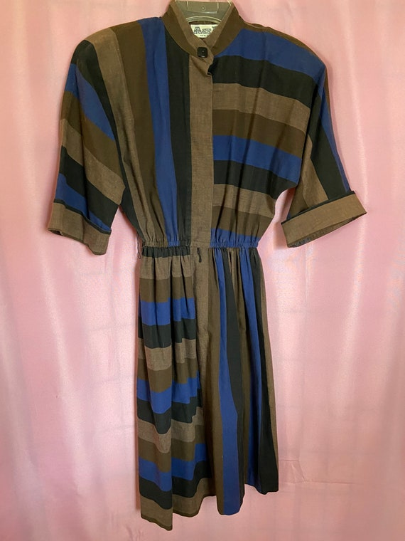 Act I New York 1980's Vintage Dress // Brown // Sh