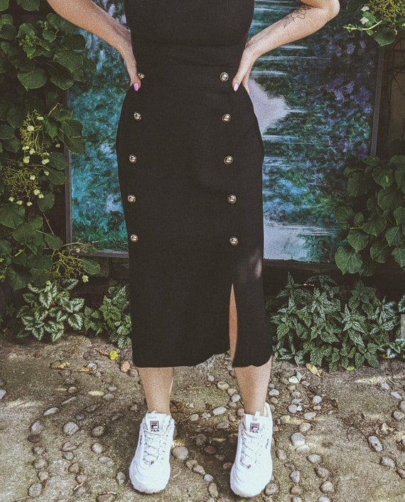 Vintage Tea-Length Skirt