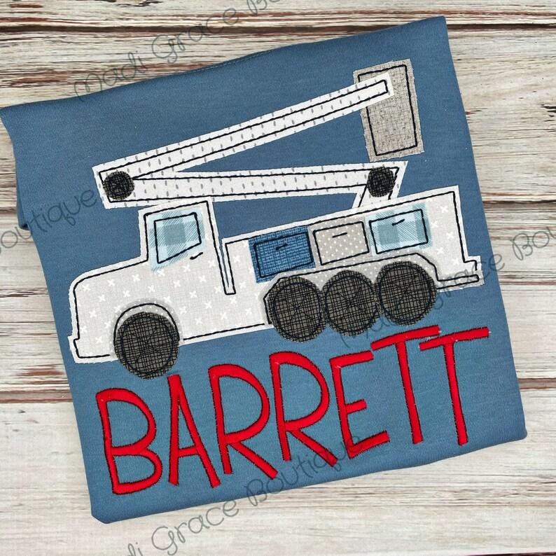 Boy Lineman Bucket Truck