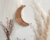Rattan Luna Wall Hanging Moon Figure Handmade Wall Decor