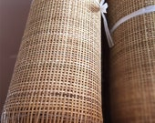 Natural Rattan Cane Webbing Woven Mesh Webbing Half Bleached Square Knitting Radio Weave Rattan Webbing Open Weave Square Woven For Crafts