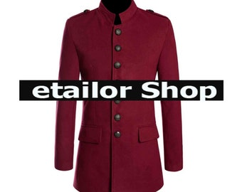 New Women Gothic Red Napoleon Military Style Coat Steampunk for sale at Cheap Price   Gothic Jacket