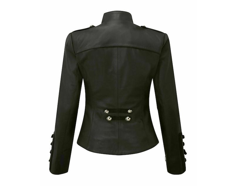 New Winter Kiltish Women Napoleon Military Leather Coat Cheryl Jacket