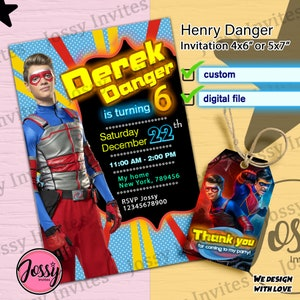 STICKERS Henry Danger Dual Identities Decals 7 and Pair of 3
