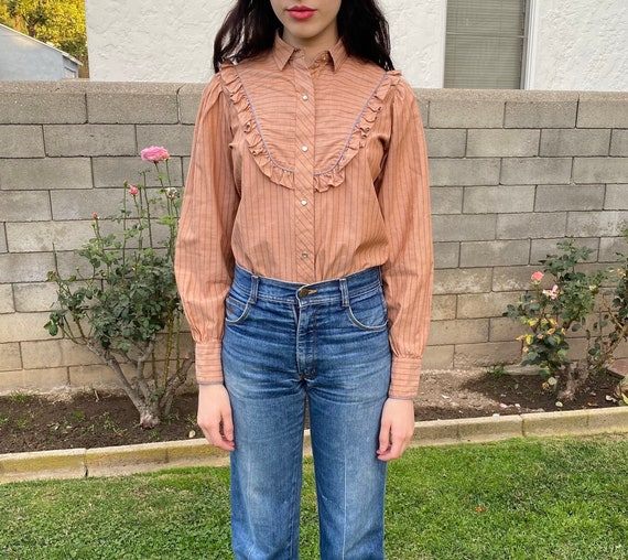Women's prairie western ruffle blouse 'Karman'