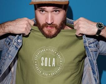 5 Solas of the Reformation Christian T-Shirt   Men's/Women's Reformed Shirt
