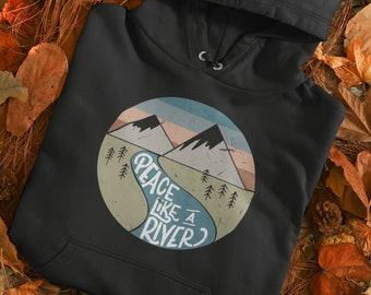 Peace Like a River Christian Hymn Hoodie   Men's/Women's Hand Drawn Vintage Design   Soft Comfy Hooded Sweatshirt   Free Shipping