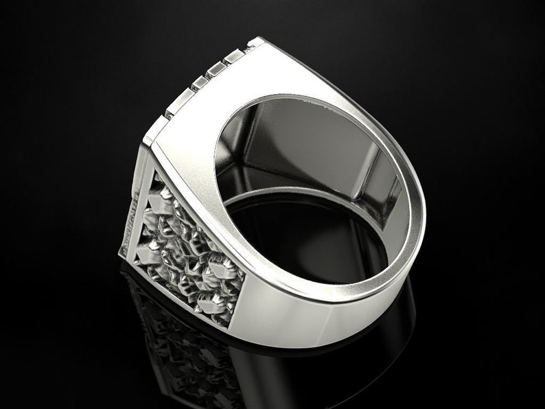 925 sterling silver gift for your bike lovers friends,. biker ring unique band stone amazing looking biker writing in letter ring
