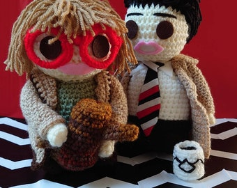 """Twin Peaks inspired Agent Cooper collectors crochet doll...""""You know, this is—excuse me—adamnfine cup of coffee!"""""""
