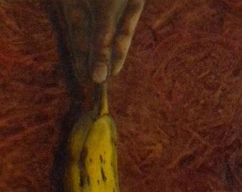 Dangling Banana - Original Oil Painting