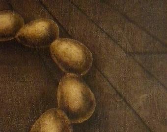 Revolving Eggs II Oil Painting