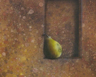Snooping Pear - Original Oil Painting