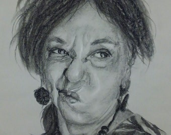 Custom Portrait in Charcoal