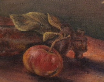 Apple and Rust - Original Oil Painting