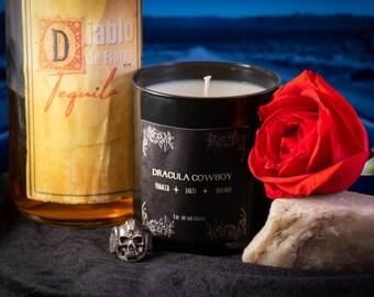 Dracula pillar candle vase