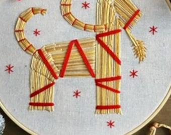 Julbock Embroidery