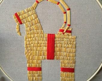 Julbock, Gavle Goat Embroidery