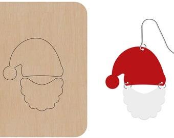 Santa hat earrings Leather cutting die cutter, Christmas earring leather punch die set, leather craft tool, leather die cut