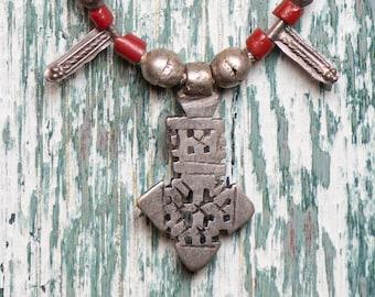 Ethiopian Mala Prayer Beads Silver Old Africa 29 Inch 112488