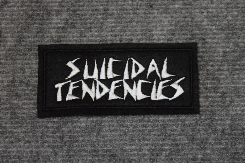 Embroidered patch Suicidal Tendencies band punk patches logo symbol political anarchist anarchy leftism blm pig rebel anti cop shirt pin