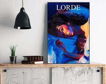 Lorde Custom Canvas Rolls Home Decor Celebrity Poster Melodrama Album Canvas Lorde 2017 Album Wall Art Singer Lorder Art Wall Hanging