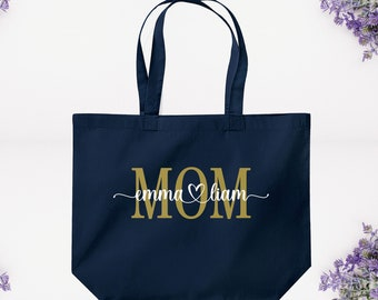 Grocery Bag Mothers Day Gift Gift For Her Handmade Gifts Tote Bag Gift For Mom Beach Bag Pretty Swan Silkscreen Print Cotton Bag