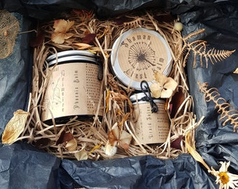 Herbal healers gift set trio | natural & ethical gift set | self-care treat | soothing + calming remedies | gift box|by A Botanical Grimoire