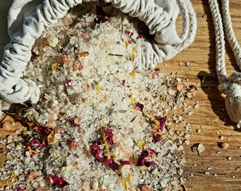Botanical Bath Soak | Mineral Rich | Luxury Bath Salts | Coconut Milk | Relaxing | Self-Care | by A Botanical Grimoire