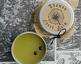 Evergreen chest balm | natural vapour rub | petroleum jelly-free | breathe easy & relax | cold + flu decongestant | by A Botanical Grimoire