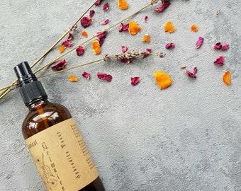 Botanical facial toner | Rose, Lavender, Sweet Orange & Tea Tree with Witch Hazel | by A Botanical Grimoire